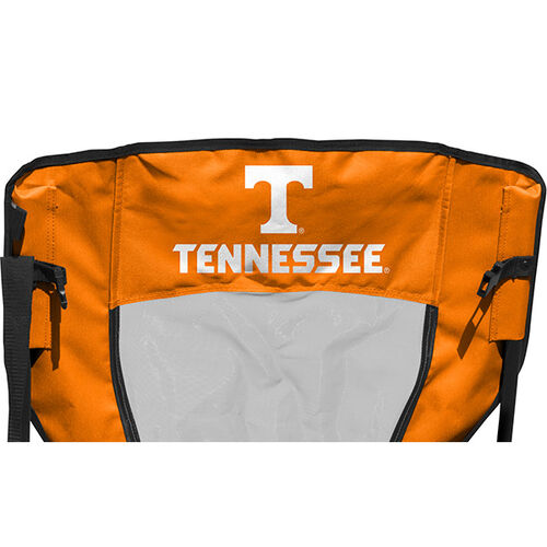 Back of Rawlings Orange and White NCAA Tennessee Volunteers High Back Chair With Team Name SKU #09403101518