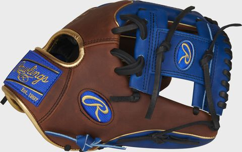 Thumb of a timberglaze/royal PRO204W-2TIR Exclusive Heart of the Hide 11.5-Inch glove with a royal I-web