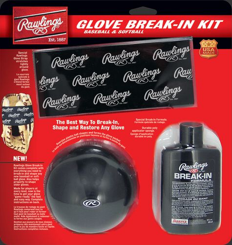 Rawlings Glove Break-In Kit With Glovolium, Sponge, and Oversized Ball SKU #BRKIT