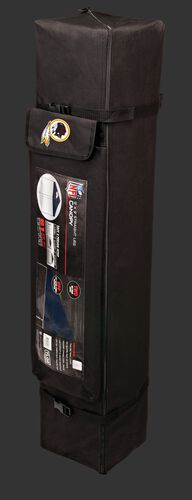 Black carry case of a 9x9 Washington Football Team canopy with a team logo on the side compartment - SKU: 03231087112