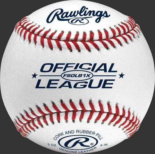 FSXBUCK30 Flat seam baseball with Official League logo