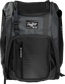 Front of a black Franchise baseball backpack with gray accents and a black Rawlings patch - SKU: FRANBP-B image number null