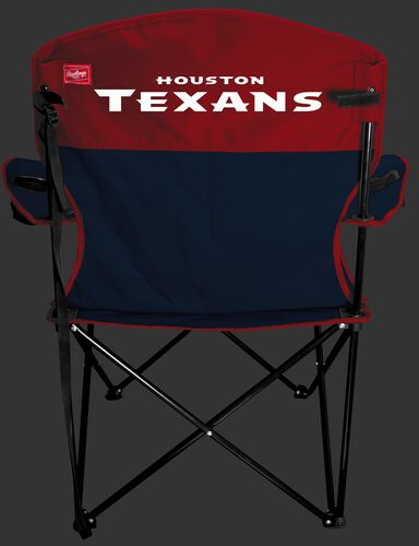 Back of Rawlings Red and Navy NFL Houston Texans Lineman Chair With Team Name SKU #31021093111