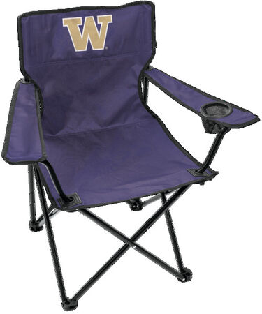 Front of Rawlings Purple NCAA Washington Huskies Gameday Elite Chair With Team Logo SKU #00563108111