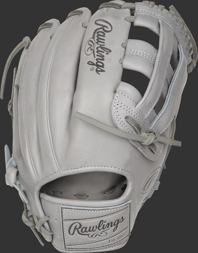 PROKB17-6G 12.25-Inch Heart of the Hide Pro Label glove with a grey back and leather patch