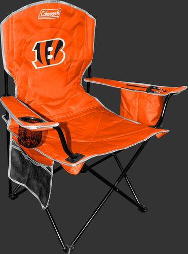 Front of Rawlings Orange NFL Cincinnati Bengals Cooler Chair With Team Logo SKU #02771063111