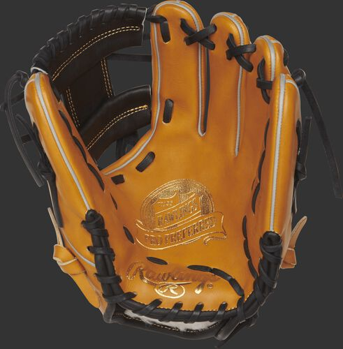 PROS204-2RTB 11.5-inch Rawlings I web glove with a rich tan palm and black laces