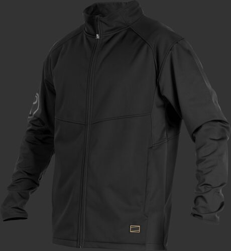 A black Gold Collection mid weight jacket with long sleeves and full zip - SKU: GCMW2-B
