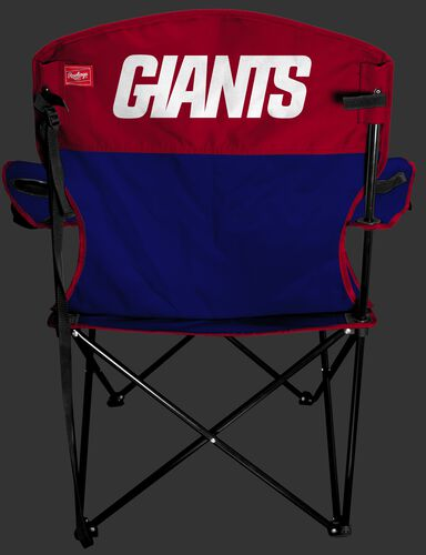 Back of Rawlings Red and Blue NFL New York Giants Lineman Chair With Team Name SKU #31021078111