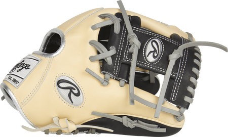 Thumb view of a PRORFL12 11.75-inch Heart of the Hide R2G Infield Glove with a black I web