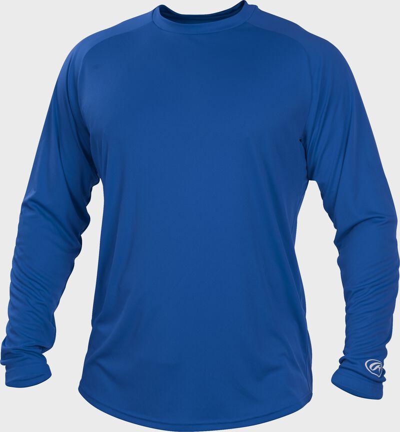 Royal blue LSRT Adult crew neck long sleeve shirt