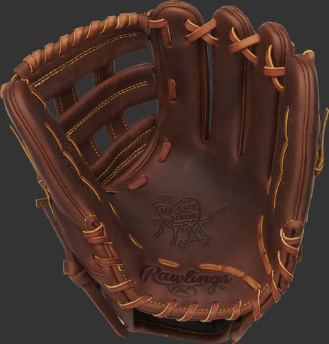 PRO12-NA28 Rawlings Gameday 57 Series glove with a timberglaze palm/web and tan laces