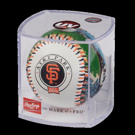 MLB San Francisco Giants stadium baseball in a display case