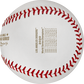 The game scores from each World Series game stamped on a LA Dodgers WS Champions ball - SKU: EA-WSBBCHMP20-R image number null