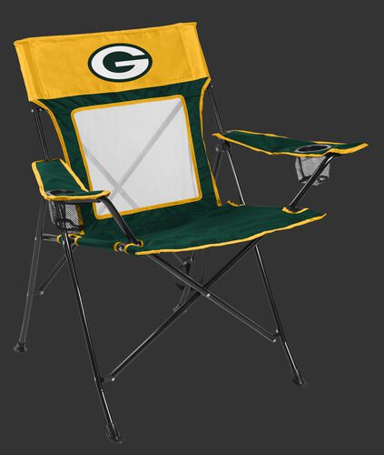 Front of Rawlings Yellow and Green NFL Green bay Packers Game Changer Chair With Team Logo SKU #00651068111