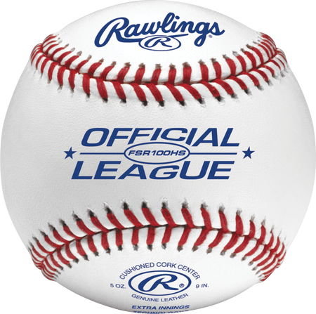 FSR100HS Flat seam baseball with the Official League logo