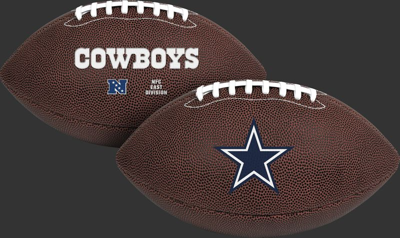 NFL Dallas Cowboys Air-It-Out youth football with team logo and team name SKU #08041065121
