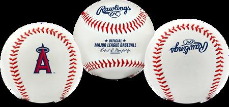 3 views of a MLB Los Angeles Angels baseball