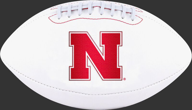 White NCAA Nebraska Cornhuskers Football With Team Logo SKU #05733089122