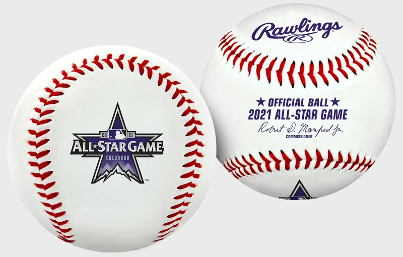 A MLB 2021 replica All-Star Game baseball with the 2021 ASG logo - SKU: 35010037165