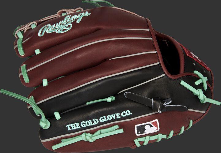 Back of a Rawlings Arizona Diamondbacks glove with the MLB logo on the pinky - SKU: RSGPRONP4-19ARI