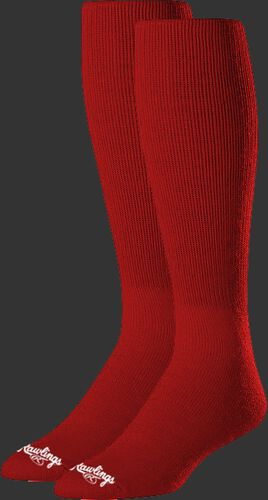 SOC-RED Red over the calf socks