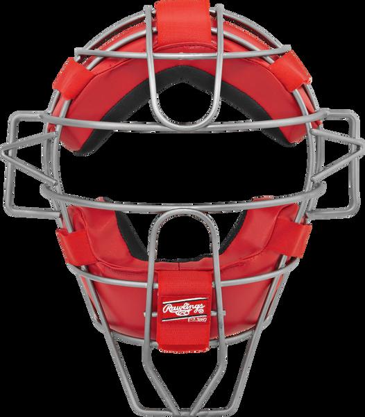 Adult Lightweight Hollow Wire Catcher/Umpire Mask Scarlet