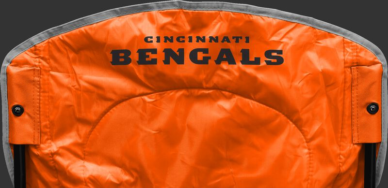 Back of Rawlings Orange NFL Cincinnati Bengals Cooler Chair With Team Name SKU #02771063111