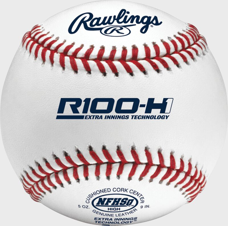 R100-H1 NFHS Official high school baseball with official NFHS logo