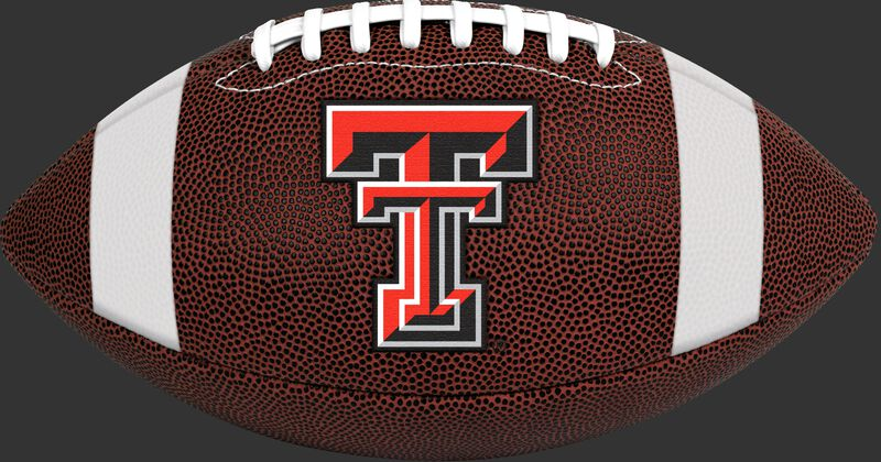 Brown NCAA Texas Tech Red Raiders Football With Team Logo SKU #04623063811