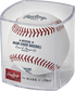 A MLB 2021 Home Run Derby baseball in a clear display cube - SKU: RSGEA-ROMLBHR21-R image number null