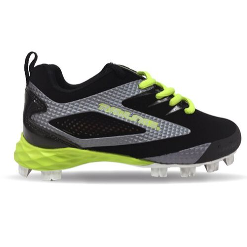 Rawlings Gray, Green, and Black Youth Capture Low Baseball Cleats With Brand Name SKU #4322-KL6