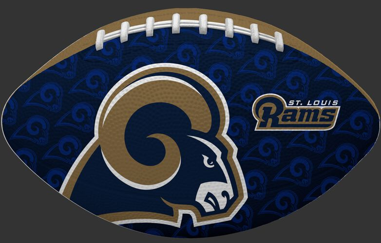 Navy side of a NFL Los Angeles Rams Gridiron football with the team logo SKU #09501073123