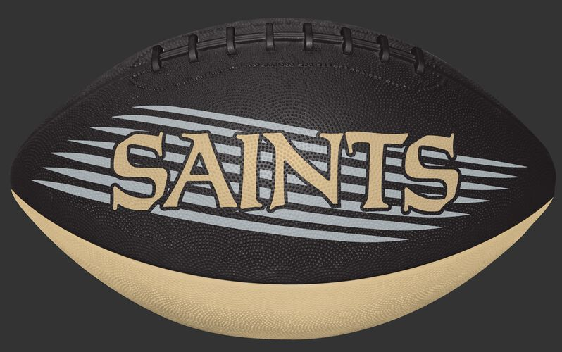 Black and Gold NFL New Orleans Saints Downfield Youth Football With Team Name SKU #07731077121