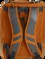 Back of an orange Rawlings Franchise backpack with gray shoulder straps - SKU: FRANBP-O image number null