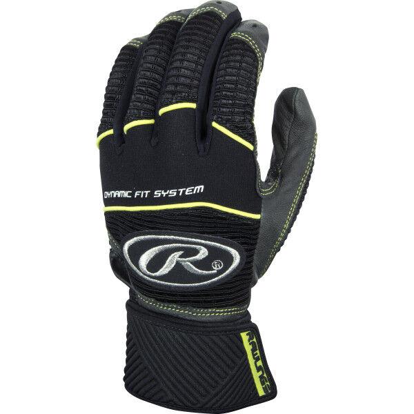 Adult Compression Strap Workhorse Batting Glove Gray