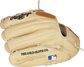 Back finger view of a Gameday 57 Series DJ LeMahieu glove with a MLB logo on the pinky - SKU: PROSNP4-DJ26 image number null