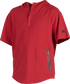 A scarlet Gold Collection short sleeve hoodie with a 1/4 zip and gray welded zipper pockets - SKU: GCJJ-S image number null