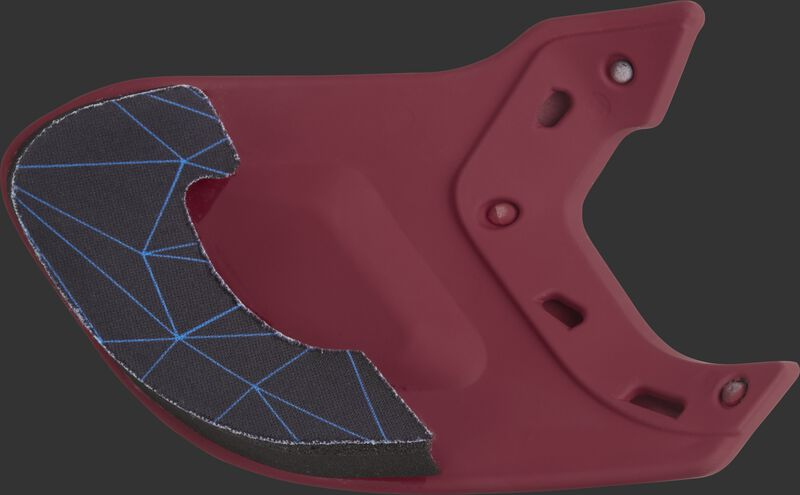 Padding on the inside of a cardinal MEXTR Mach batting helmet extension