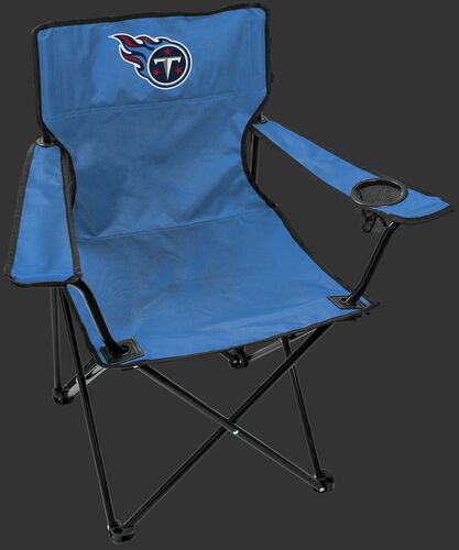 Front of Rawlings Baby Blue NFL Tennessee Titans Gameday Elite Quad Chair With Team Logo SKU #00551069111