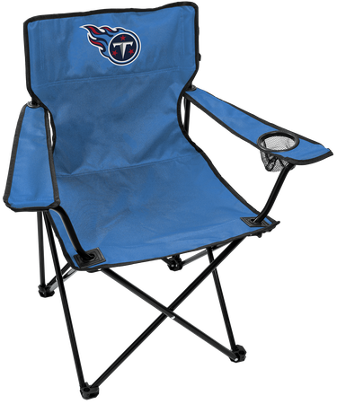 NFL Tennessee Titans Gameday Elite Chair with team colors and logo on the back