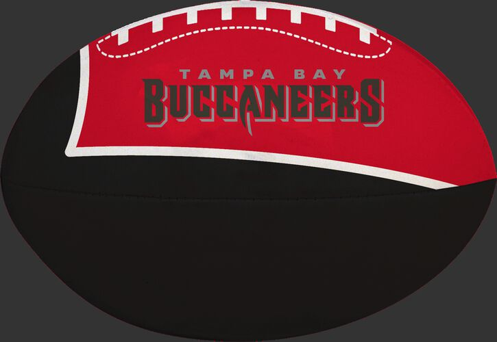 Red and Black NFL Tampa Bay Buccaneers Football With Team Name SKU #07831086112