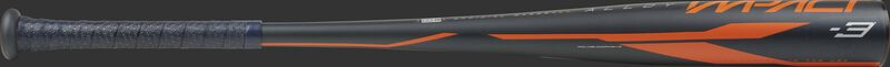 BBZI3 Rawlings Impact -3 BBCOR bat with a navy barrel and navy grip
