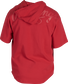 Back of a scarlet Rawlings Gold Collection short sleeve hoodie with a scarlet script Rawlings logo across the back - SKU: GJJ-S image number null