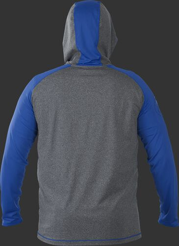 Back of Rawlings Royal/Gray Adult Hurler Lightweight Hoodie - SKU #HLWH-GR/B-88