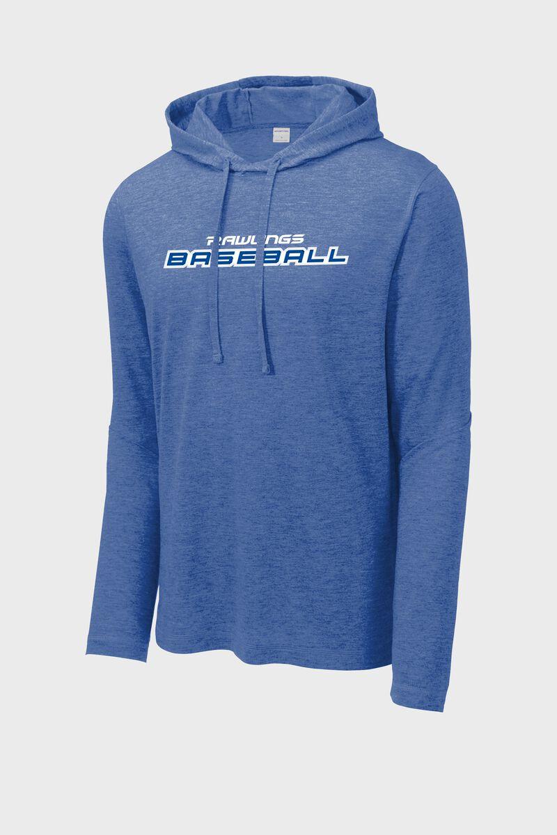 A royal Rawlings baseball lightweight performance hoodie - SKU: RSGLH-R