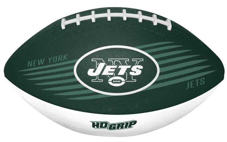 Green and White NFL New York Jets Downfield Youth Football With Team Logo SKU #07731079121
