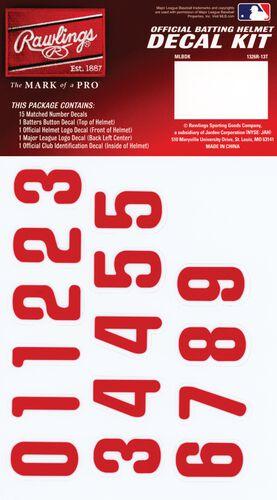 Rawlings MLB Philadelphia Phillies Decal Kit With Red Numbers SKU #MLBDC-PHI