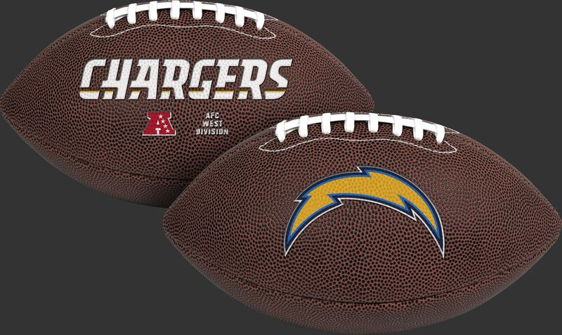 NFL Los Angeles Chargers Air-It-Out youth football with team name and logo SKU #08041083121