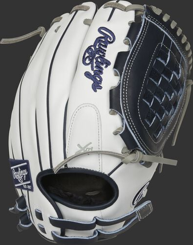 RLA120-3N 12-inch Liberty Advanced infield/pitcher's Basket web glove with a white back and adjustable pull-strap back